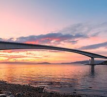 Skye Bridge Sunset by derekbeattie