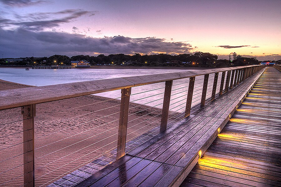 Barwon Heads Walking Bridge by Lynden
