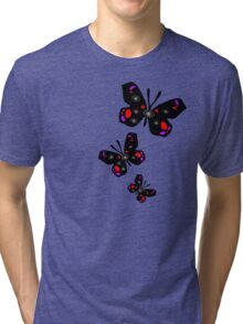 colorful butterfly vector graphic art Tri-blend T-Shirt