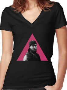 Omar Little: Silence = Death Women's Fitted V-Neck T-Shirt
