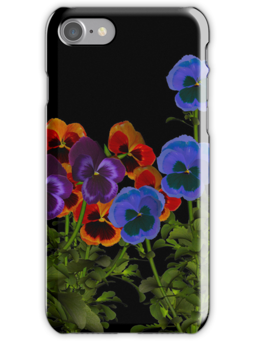 Pansy iphone case by Dawnsky2