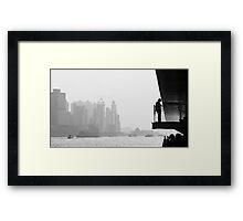 bw city  Framed Print