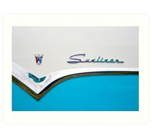 Sunliner in blue Art Print