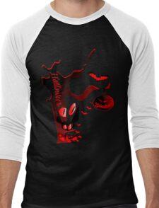 Halloween horror holidays vector graphic art Men's Baseball ¾ T-Shirt