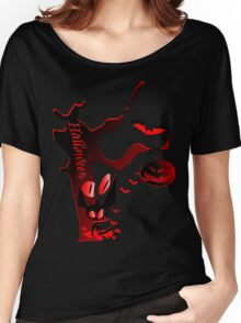 Halloween horror holidays vector graphic art Women's Relaxed Fit T-Shirt