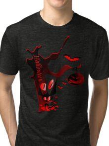 Halloween horror holidays vector graphic art Tri-blend T-Shirt