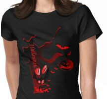 Halloween horror holidays vector graphic art Womens Fitted T-Shirt