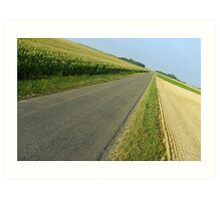 Straight country road Art Print