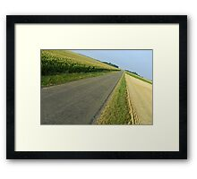 Straight country road Framed Print