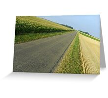 Straight country road Greeting Card