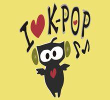 I love kpop owl vector art Kids Clothes