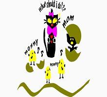 Funny kitty cat and bird vector art Mens V-Neck T-Shirt