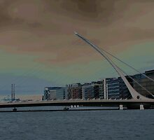 SAMUEL BECKETT BRIDGE DUBLIN by Paul Xavier