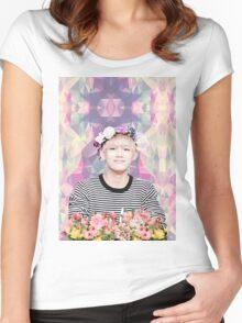 BTS/Bangtan Sonyeondan - Flower Boy Kim Taehyung Women's Fitted Scoop T-Shirt