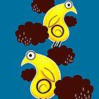 Kiwi flying by littlearty