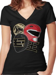 Back to Action! Women's Fitted V-Neck T-Shirt