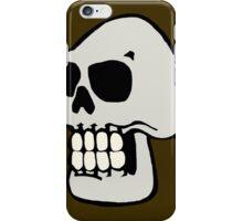 Skull - Brown iPhone Case/Skin