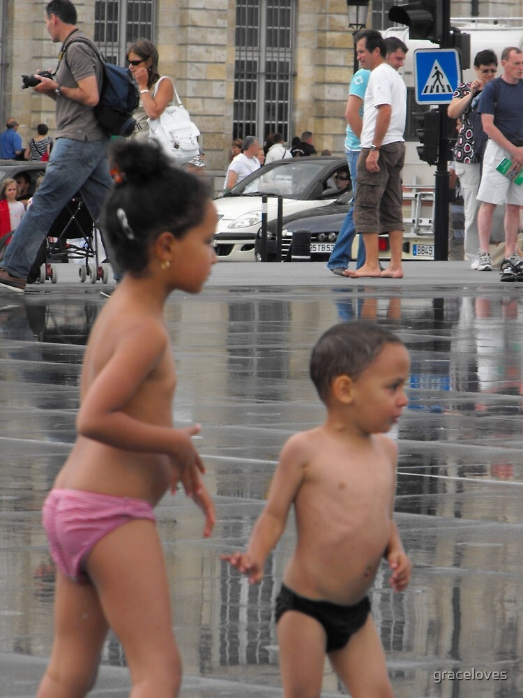 Fun at Bordeaux water pavement by graceloves