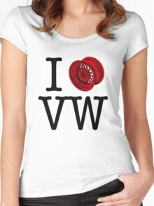 I (+)) VW Women's Fitted Scoop T-Shirt