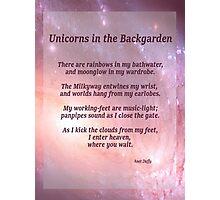 Unicorns in the Backgarden Photographic Print