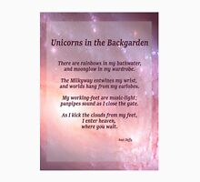 Unicorns in the Backgarden Unisex T-Shirt