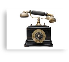 Antique dial telephone Canvas Print