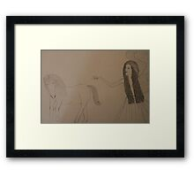 Angel and Unicorn Framed Print