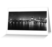 London Skyline from Hungerford Foot Bridge Greeting Card