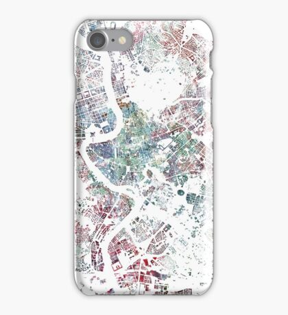 Rome map watercolor painting iPhone Case/Skin