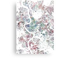 Rome map watercolor painting Canvas Print