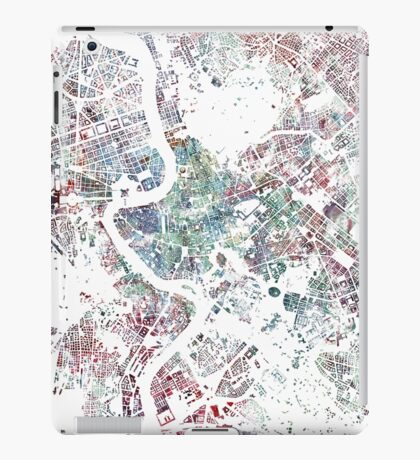 Rome map watercolor painting iPad Case/Skin