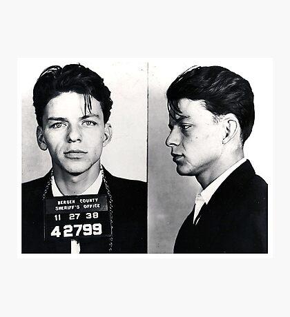 Frank Sinatra Mug Shot Photographic Print