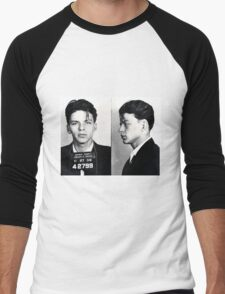 Frank Sinatra Mug Shot Men's Baseball ¾ T-Shirt