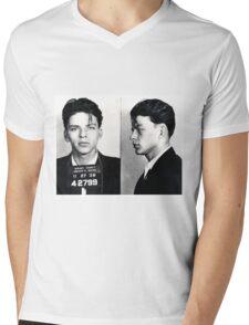 Frank Sinatra Mug Shot Mens V-Neck T-Shirt