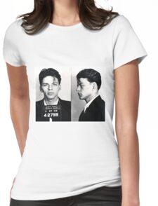 Frank Sinatra Mug Shot Womens Fitted T-Shirt