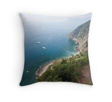Cinque Terre views Throw Pillow