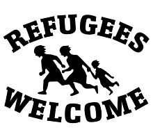 Welcome Refugees Love Peace by one-piece