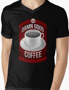 Damn Good Coffee Mens V-Neck T-Shirt