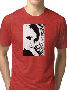Girl Face - Lashes Tri-blend T-Shirt