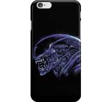 Space Nightmare (horror purple) iPhone Case/Skin