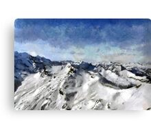 View from the Schilthorn Canvas Print