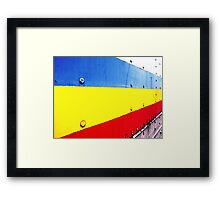 """Primary Minimalism"" Framed Print"