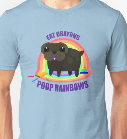 Eat Crayons, Poop rainbows. Unisex T-Shirt