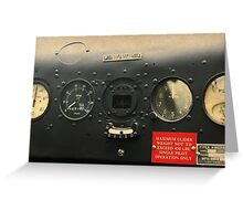 Instrument Panel Circa 1940 Greeting Card