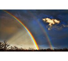 Double Rainbow With Anti-Crepuscular Rays Photographic Print
