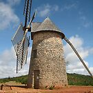 Lovely windmill in the Aveyron by daffodil