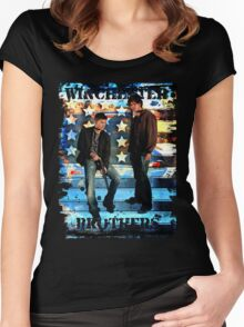 Sam & Dean Winchester - on the Road Women's Fitted Scoop T-Shirt