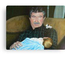 Grandpa and Grandson Canvas Print