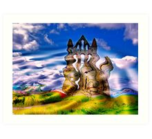 Abstract Whitby Abbey Art Print