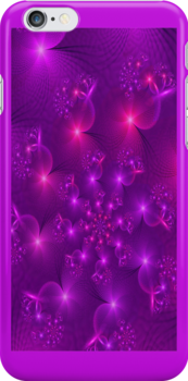 Purple hearts spiral Iphone case by inkedsandra